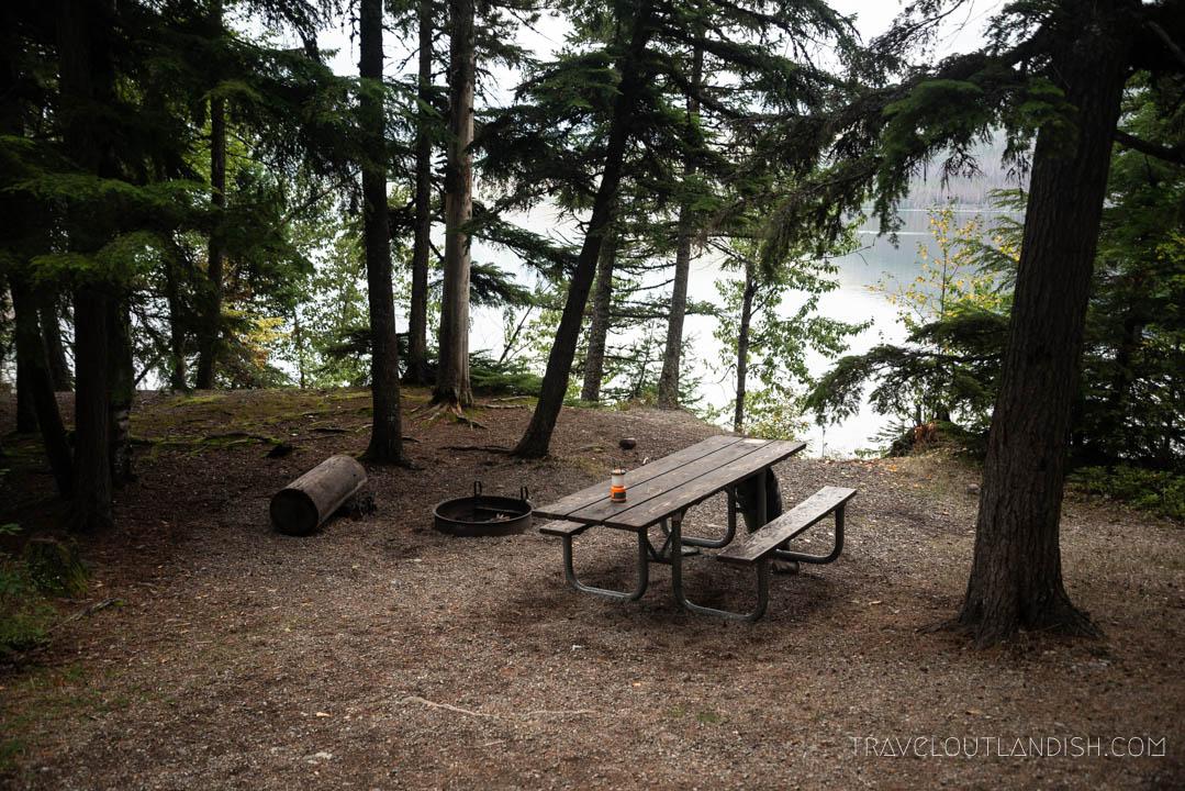 Sprague Creek Campsite in Glacier National Park
