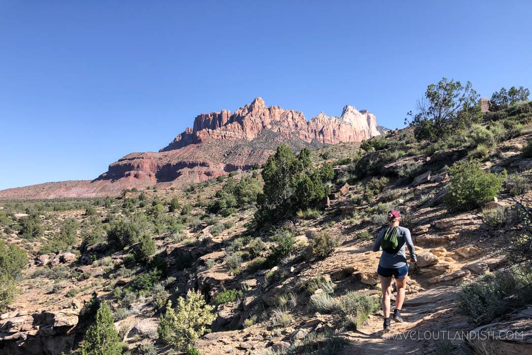Trail Running in the Southwestern Desert of Zion National Park