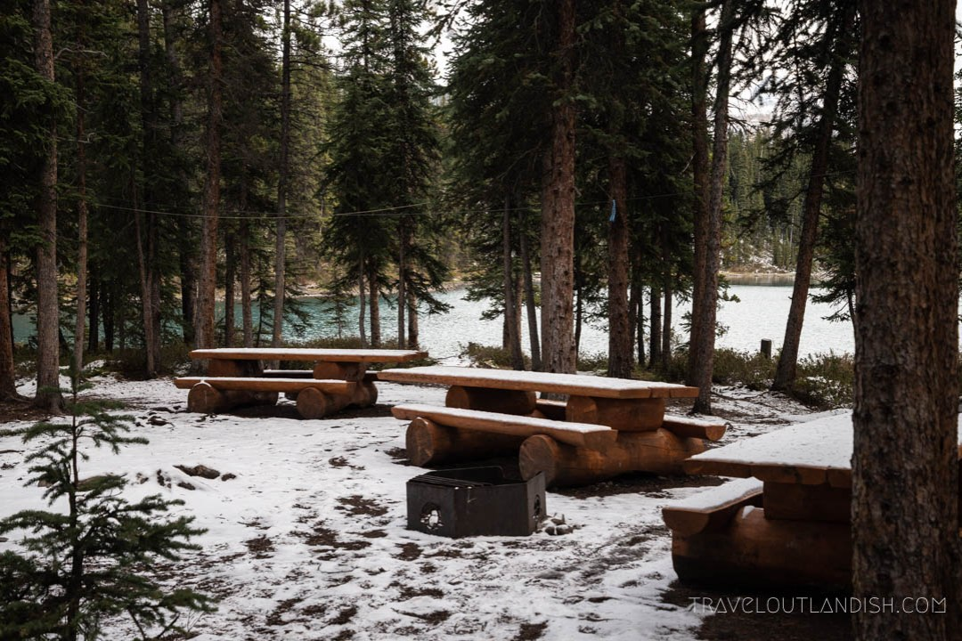 Fisherman's Bay Campgrounds on Maligne Lake