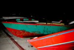 Boat Boy Boats stored for the night, Union Island