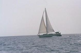 Sailing to Mayreau