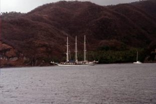 Windjammer off Anse Chastanet