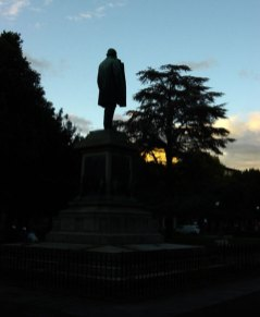 Statue in Florence at sunset