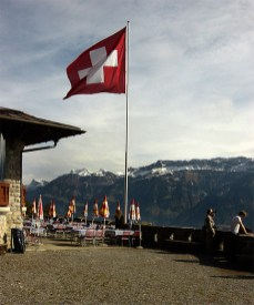 Swisse Flag flying outside the Harder Klum Restuarant