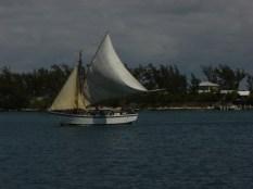 Schooner in Nassau Harbor