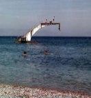 Elli Beach Diving Board Rhodes