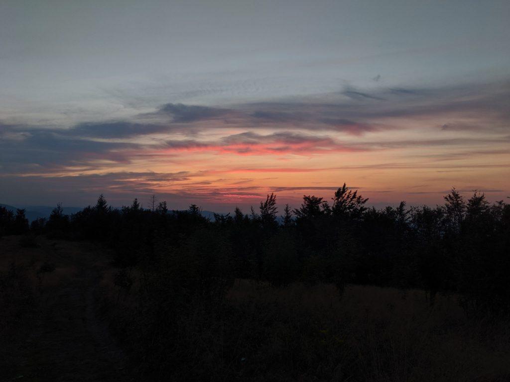Zachód słońca na Ćwilinie
