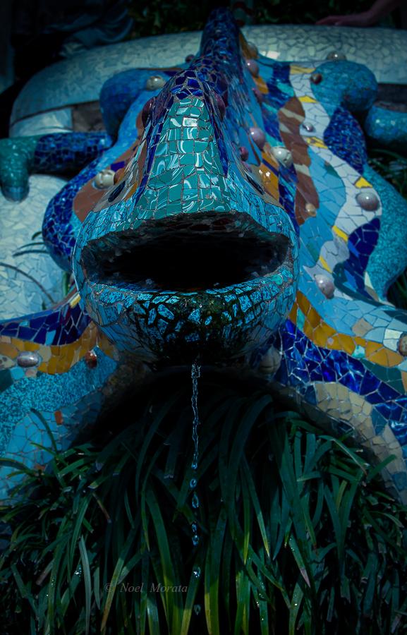 The mosaic salamander at Park Guell