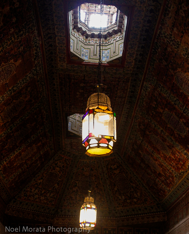 Beautiful lanterns and interior details