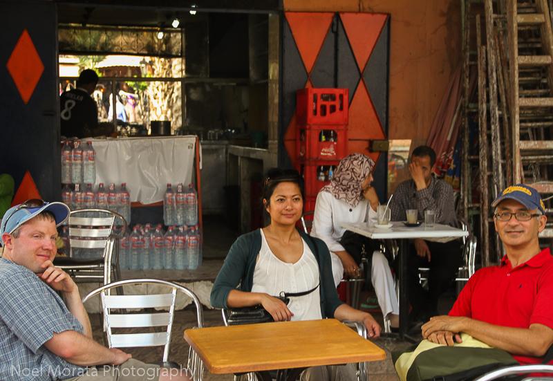 Outdoor dining and lunch break in Marrakesh