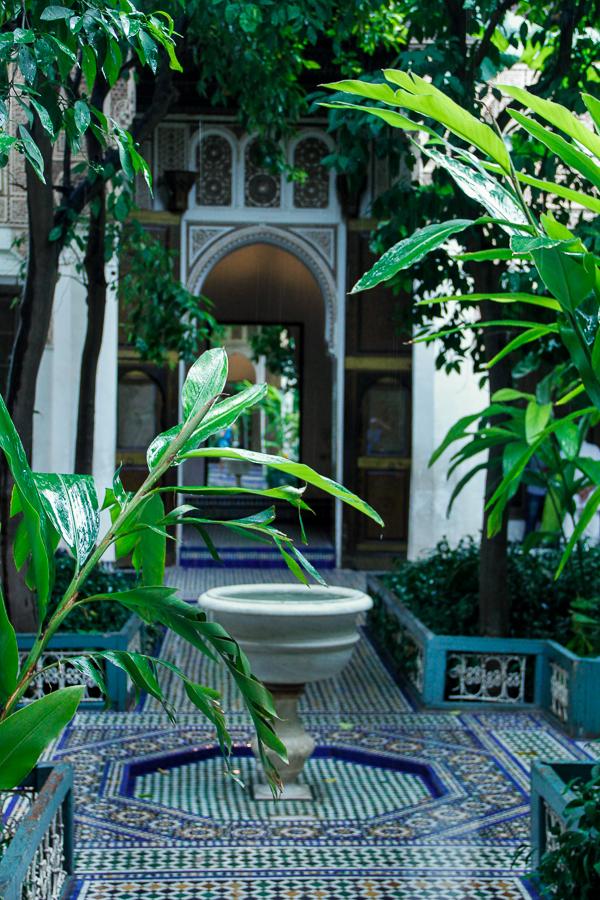 Garden couryard entry