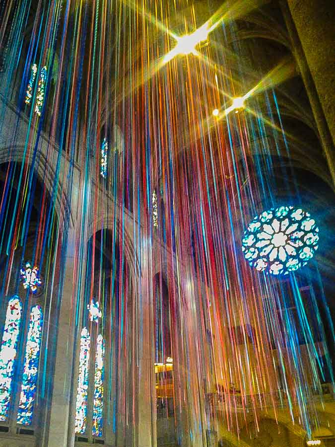 Grace Cathedral at Christmas in San Francisco