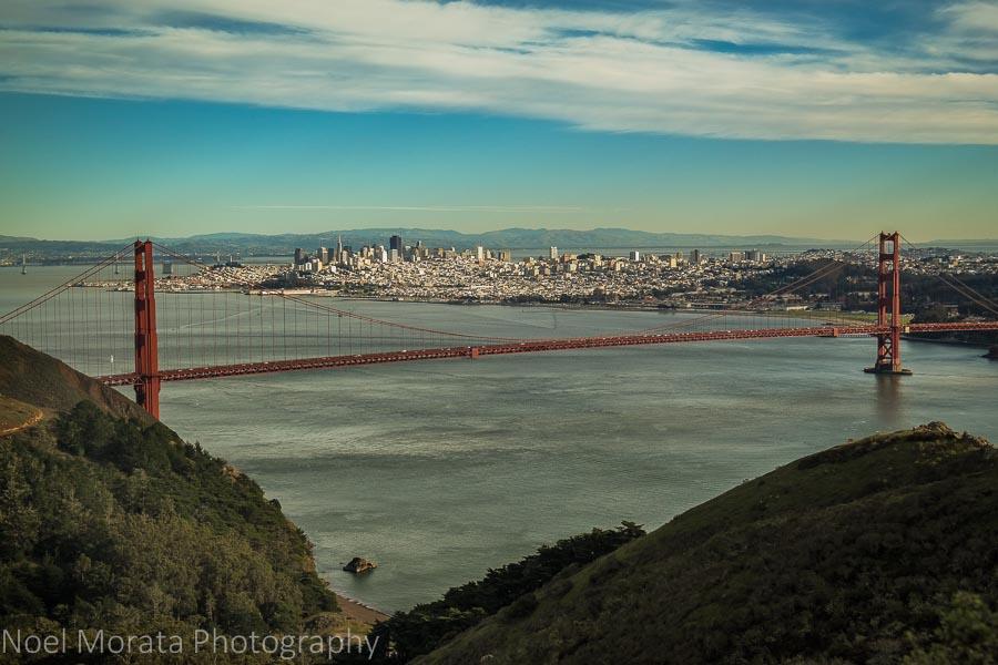 Golden Gate Bridge views in San Francisco