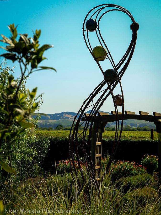 Beautiful gardens and sculpture