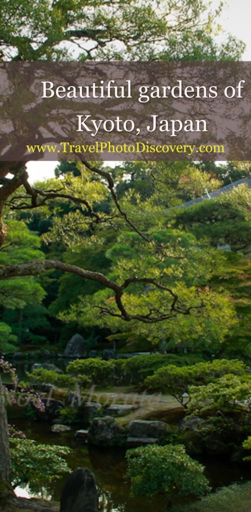 Beautiful gardens of Kyoto, Japan