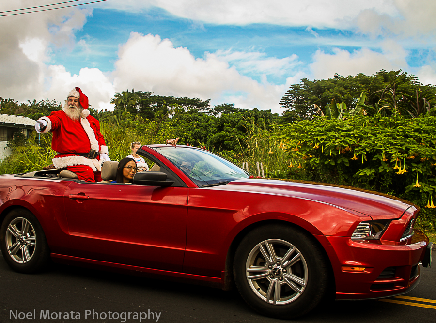 A Christmas parade in Hawaii