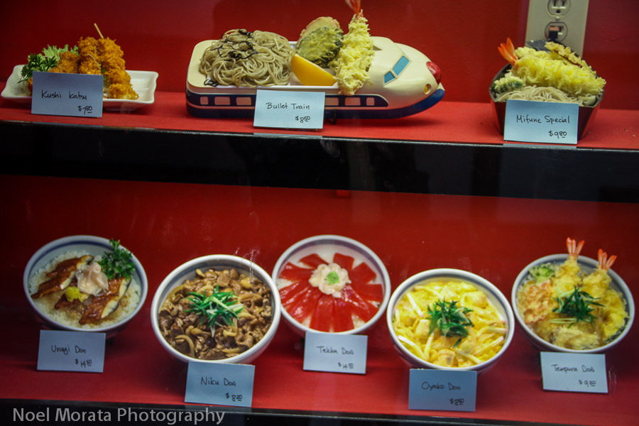 Japanese food displays in Japan town