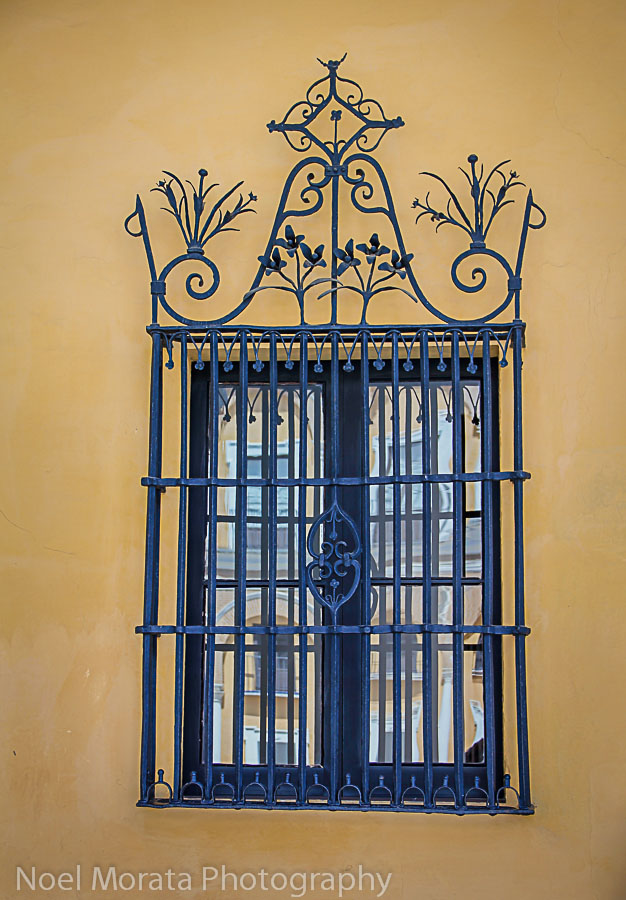 Ornate ironwork in Seville, Spain