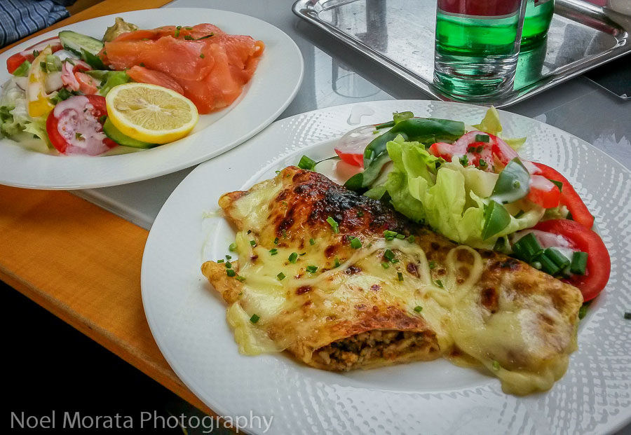 A simple and delicious lunch at the Gloriette