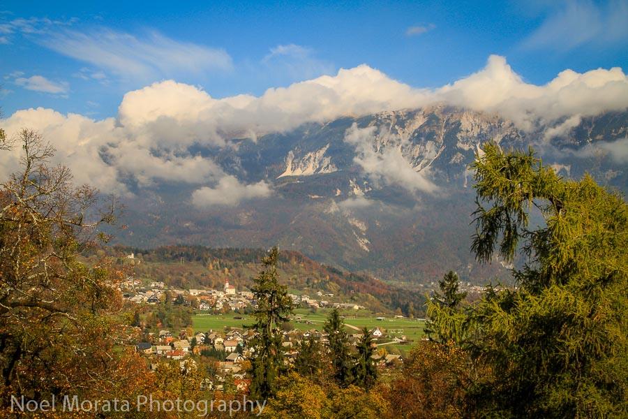 The surrounding hills around Lake Bled