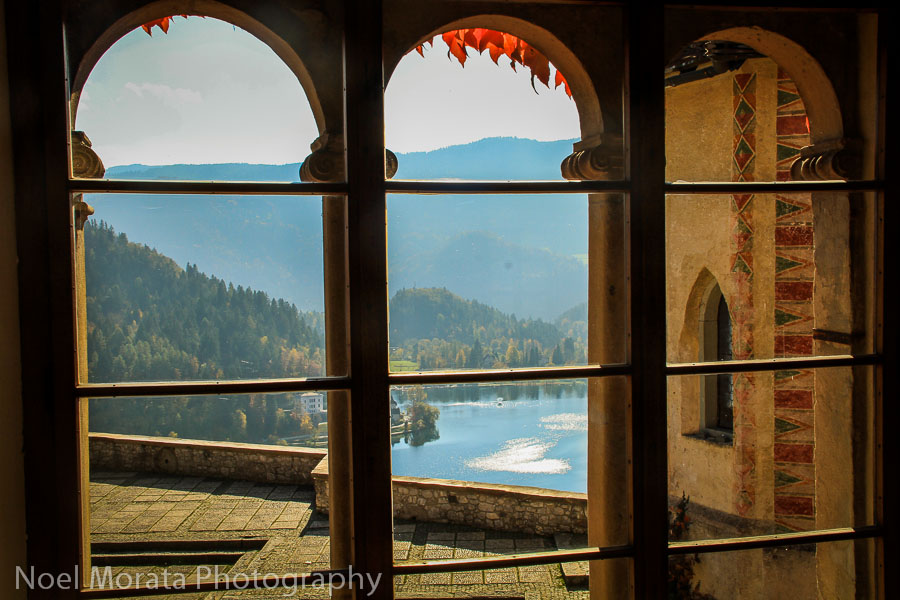 A room with a view at Bled castle