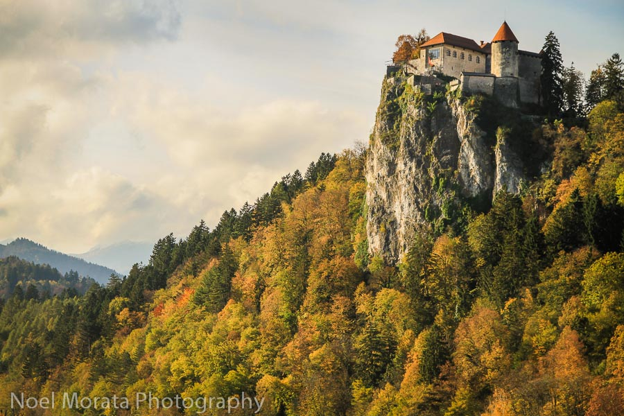 Looking back up at Bled castle