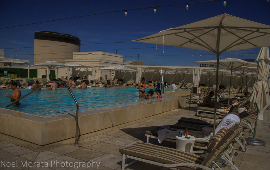 PIcnic pool and lounge at the Grand Hotel in Downtown Vegas