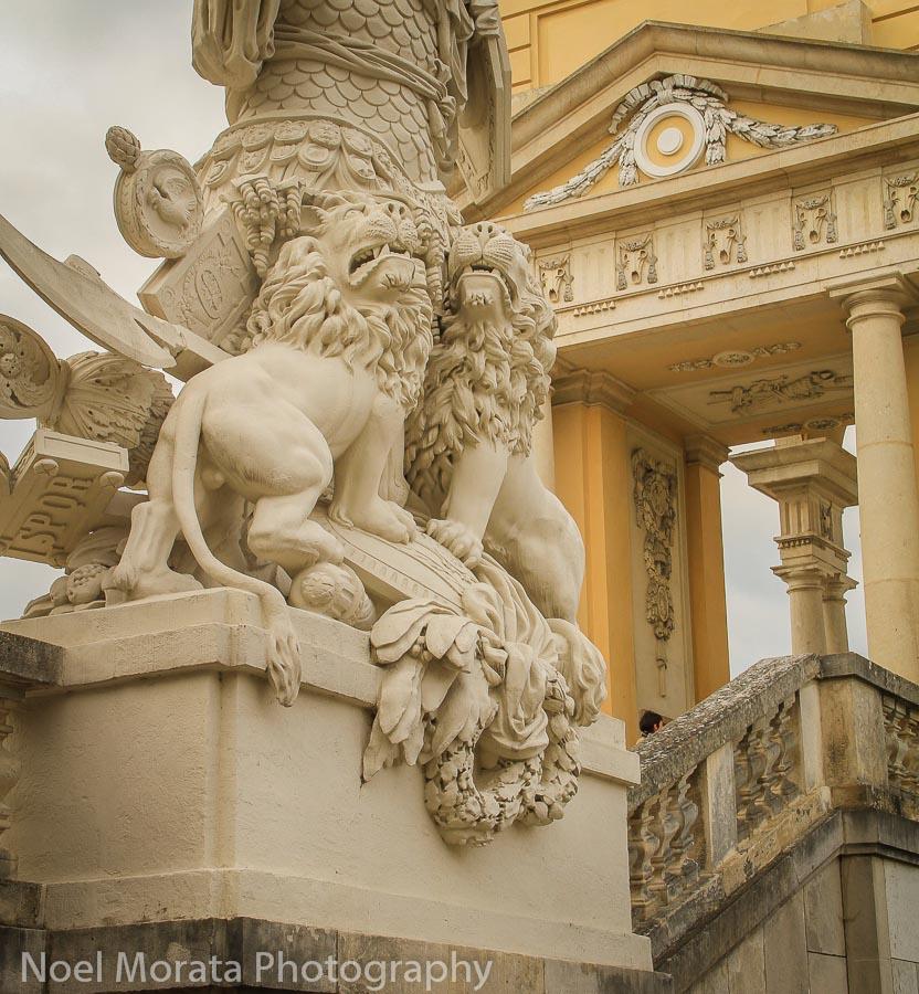 Lions guard the Gloriette