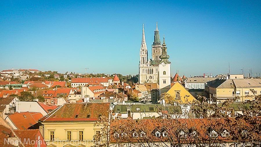 Views of the historic center in Zagreb, Croatia