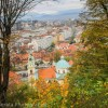 An invigorating hike up with Ljubljana castle with fall color
