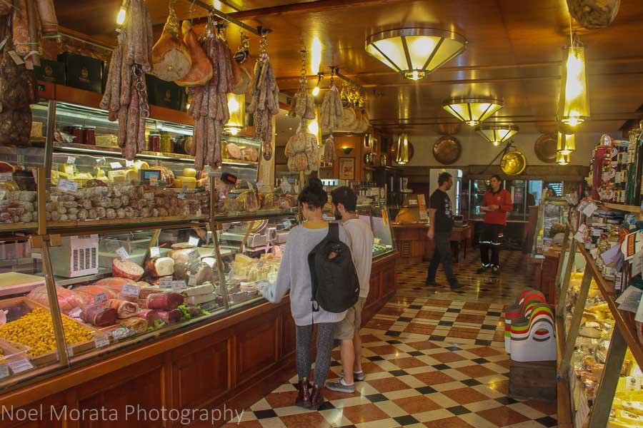 Bologna specialty food store and café A. F. Tamburini