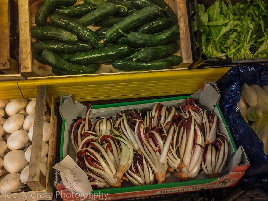 Fresh vegetables in season at the Faenza farmers market