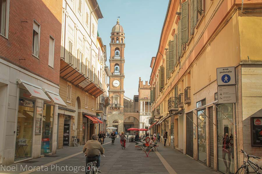 A pedestrian zone to the central Faenza's historic district