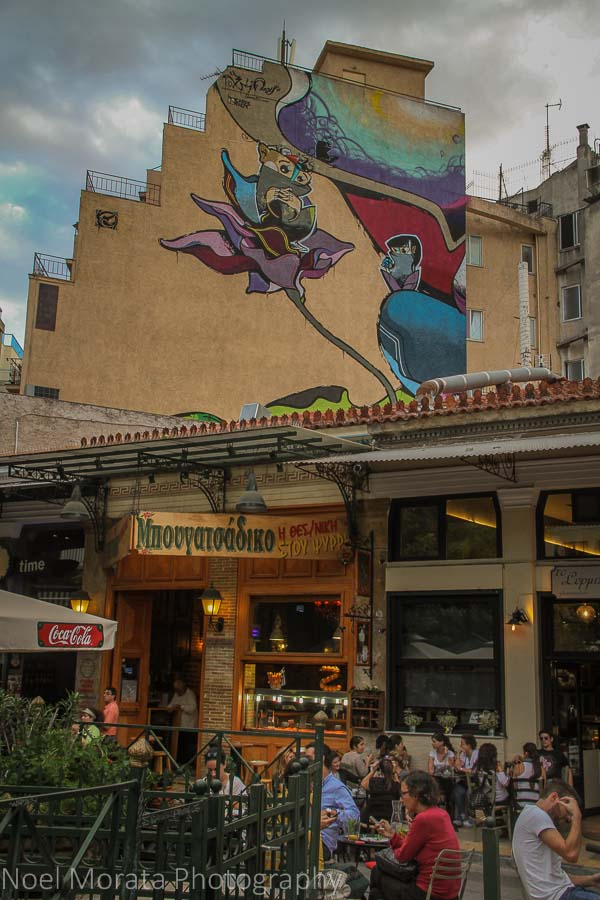 Monastiraki area neighborhoods and street art