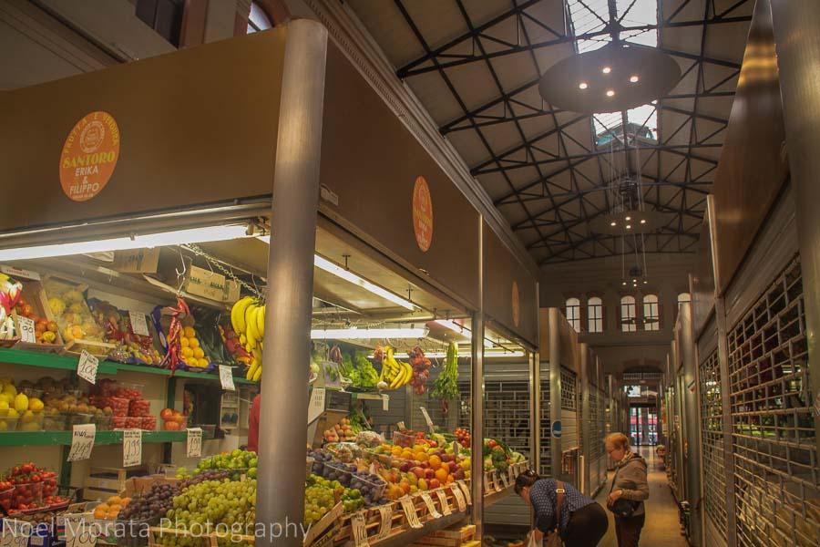 Mercato Del Herb (vegetable market) in Bologna