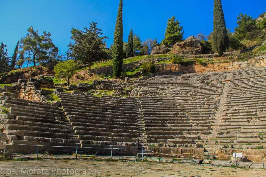 Delphi theater above the temple of Apollo