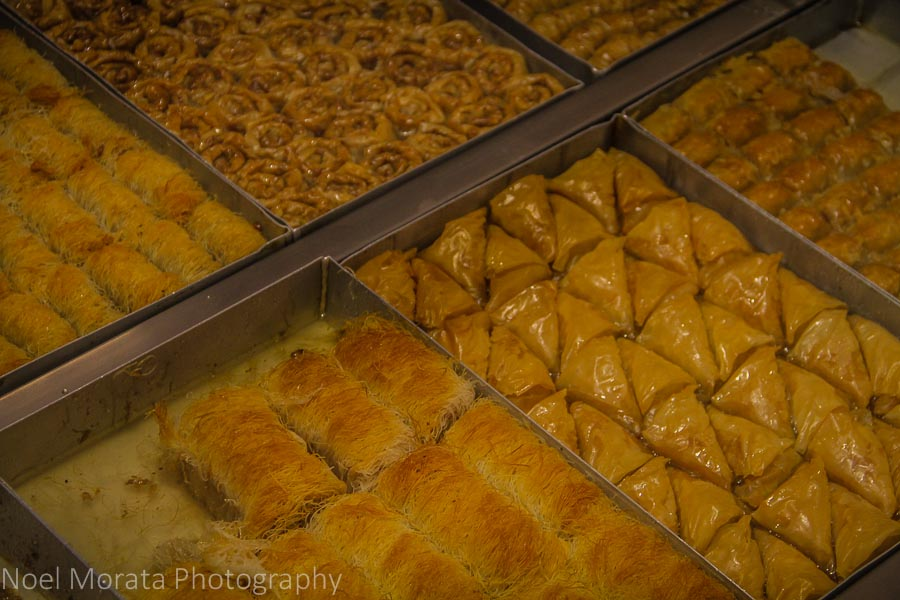 Specialty pastries include Thessaloniki baklava