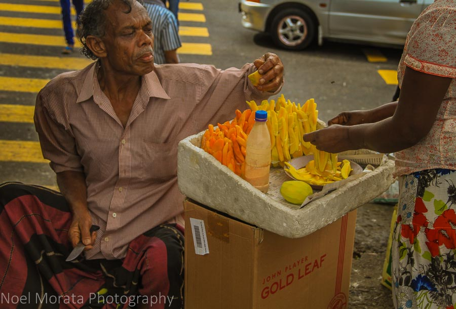 Sliced fruit for sale in Kandy, Sri Lanka