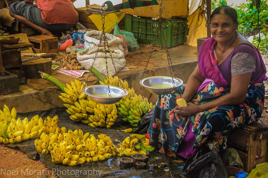 Bananas for sale at the market in Habanara
