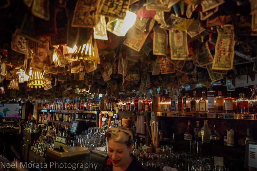 Dollar bill ceilings at the Forbidden Island