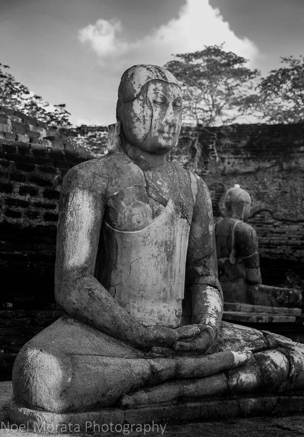Buddhas and ruins at Polonnaruwa