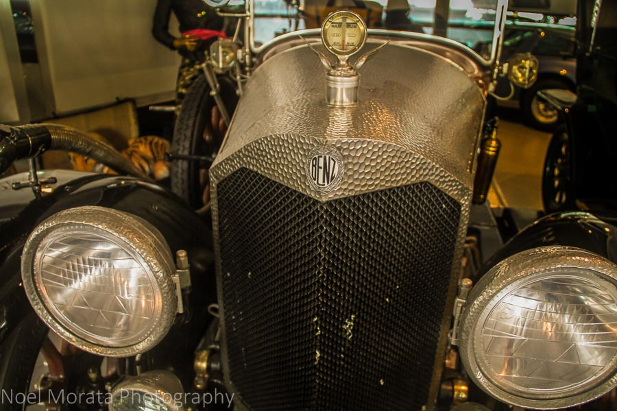 A vintage Benz at Museo Nicolis at  Verona