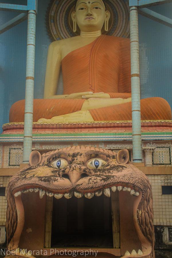 Exterior facade, Negombo Buddhist temple