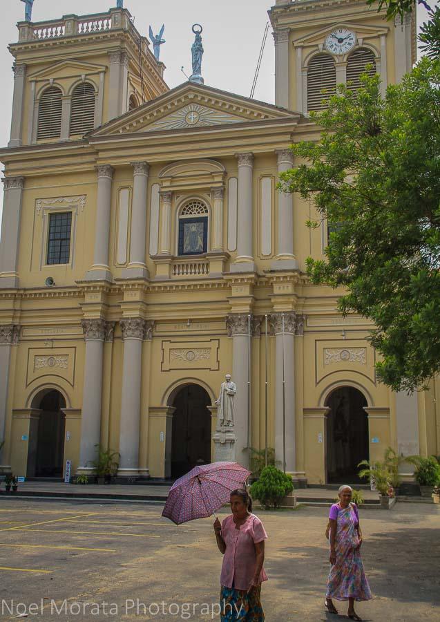 Façade of St Mary's cathedra in Negombo