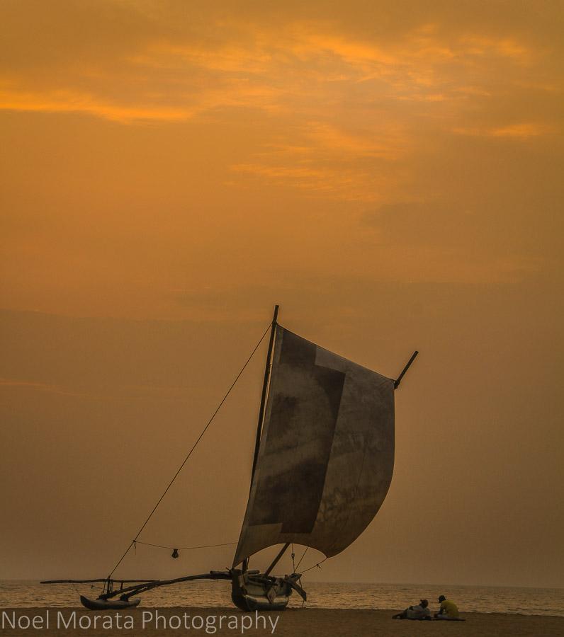 Sunset at Negombo beach, Sri Lanka