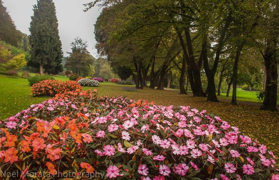 Botanical garden in the Lake Garda area of Mincio, Italy