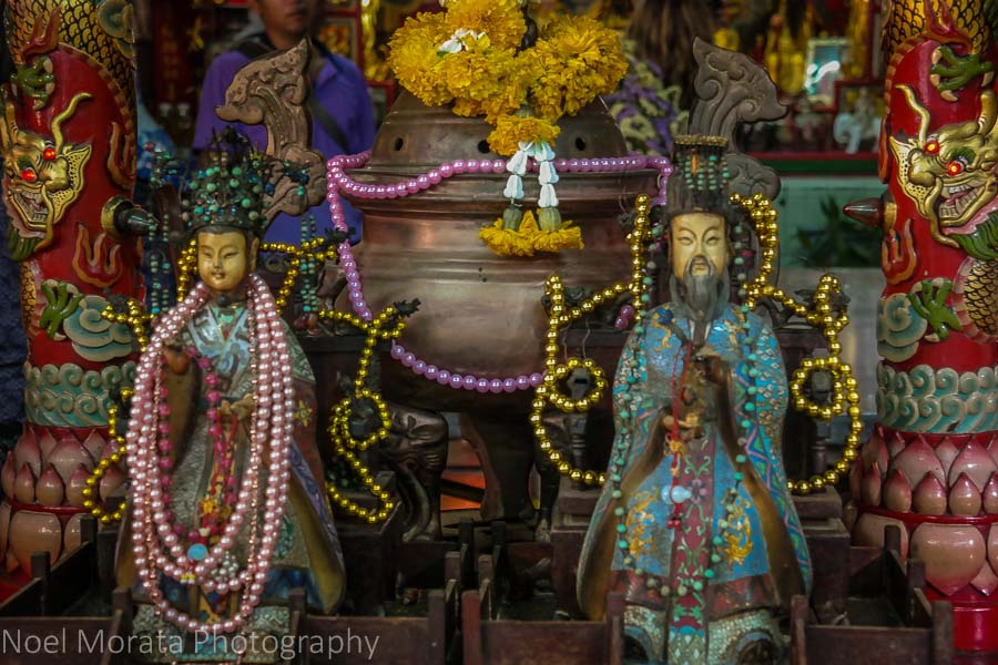 Temple  altar in Chinatown, Bangkok