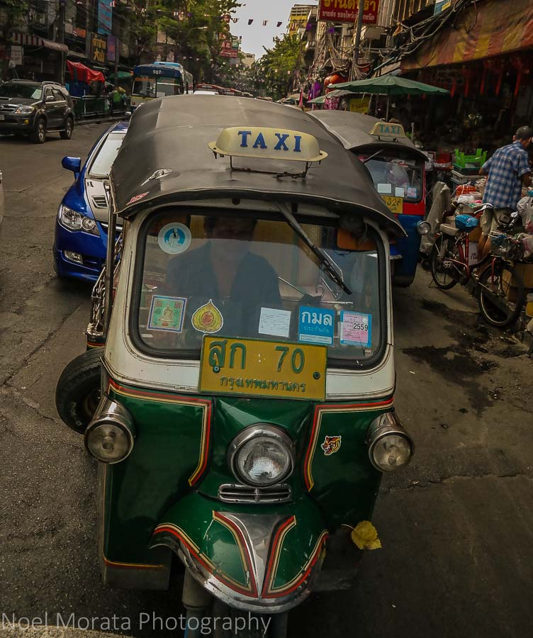 Tuk Tuk in the Streets of Bangkok in Chinatown