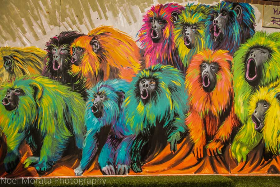 Colorful graffiti in London's East End
