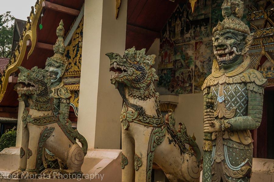 Temple guardians at Chiang Khan Wat